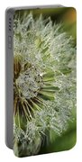 Dandelion With Water Drops Portable Battery Charger