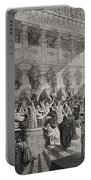 Daniel Interpreting The Writing On The Wall Portable Battery Charger by Gustave Dore