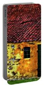 Danish Barn Impasto Version Portable Battery Charger by Steve Harrington