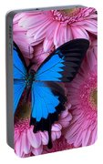 Dark Blue Butterfly Portable Battery Charger