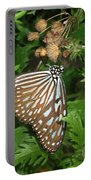 Dark Blue Tiger Butterfly Portable Battery Charger