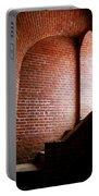 Dark Brick Passageway Portable Battery Charger by Frank Romeo