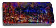 Dark City Lights Cityscape Portable Battery Charger