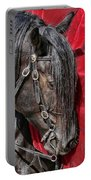Dark Horse Against Red Dress Portable Battery Charger by Jennie Marie Schell