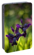 Dark Irises Portable Battery Charger