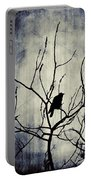 Crow In Dark Lights Portable Battery Charger