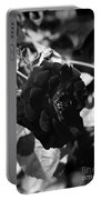 Dark Rose In Black And White Portable Battery Charger