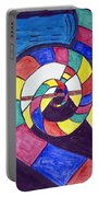 Dark Spiral Rainbow Road Portable Battery Charger