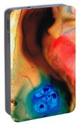 Dark Swan - Abstract Art By Sharon Cummings Portable Battery Charger