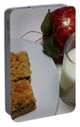 Date Squares - Snack - Dessert - Milk Portable Battery Charger