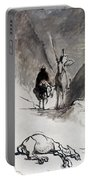 Daumier: Don Quixote Portable Battery Charger