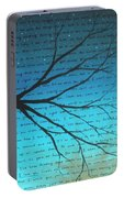 Dave Matthews Band Crush Lyric Art - Blue Portable Battery Charger
