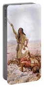 David And Goliath Portable Battery Charger by William Brassey Hole