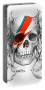 David Bowie Aladdin Sane Medusa Skull Portable Battery Charger
