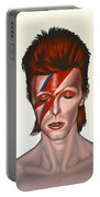 David Bowie Aladdin Sane Portable Battery Charger by Paul Meijering