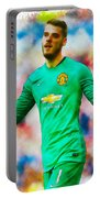David De Gea Of Manchester United Portable Battery Charger