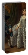 David Garrick And Mrs. Pritchard In Benjamin Hoadley's The Suspicious Husband  Portable Battery Charger
