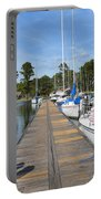 Sailboats On The Boardwalk Portable Battery Charger