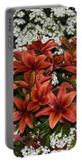 Day Lillies Portable Battery Charger