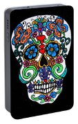 Day Of The Dead Skull Portable Battery Charger