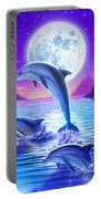 Day Of The Dolphin Portable Battery Charger