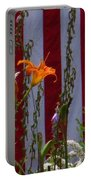 Daylily And Old Glory Portable Battery Charger