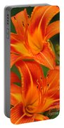 Daylily Duo  Portable Battery Charger