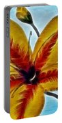 Daylily Expressive  Brushstrokes Portable Battery Charger