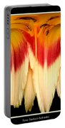 Daylily Flower Abstract 2 Portable Battery Charger