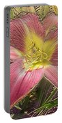 Daylily In Gold Leaf Portable Battery Charger