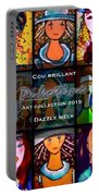 Dazzle Neck Art Collection Portable Battery Charger