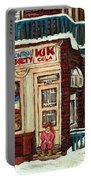 De Bullion Street Depanneur Kik Cola Montreal Streetscenes Portable Battery Charger