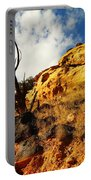 Dead Tree Against The Blue Sky Portable Battery Charger by Jeff Swan