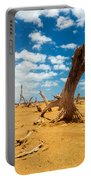 Dead Trees In A Desert Wasteland Portable Battery Charger