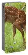 Little Fawn Blue Wildflowers Portable Battery Charger