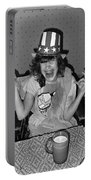 Debbie C. Celebrating July 4th Lincoln Gardens Tucson Arizona 1990 Portable Battery Charger