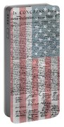 Declaration Of Independence Portable Battery Charger by Dan Sproul