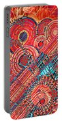 Deco Flower Swirls Portable Battery Charger