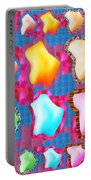 Deco Pattern Patchup Collage Crystals Jewels Rose Flower Petals Portable Battery Charger