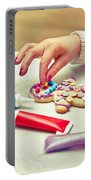 Decorating Gingerbread Man Portable Battery Charger