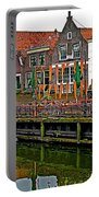 Decorations For Orange Day To Celebrate The Queen's Birthday In Enkhuizen-netherlands Portable Battery Charger