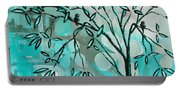 Decorative Abstract Floral Birds Landscape Painting Bird Haven I By Megan Duncanson Portable Battery Charger