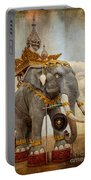 Decorative Elephant Portable Battery Charger by Adrian Evans
