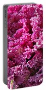 Decorative Fancy Pink Kale Portable Battery Charger