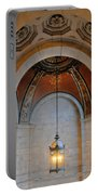 Decorative Light At The New York Public Library Portable Battery Charger