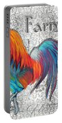 Decorative Rooster Chicken Decorative Art Original Painting King Of The Roost By Megan Duncanson Portable Battery Charger
