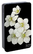 Decorative White Floral Flowers Art Original Chic Painting Madart Studios Portable Battery Charger