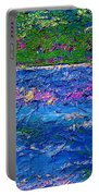 Deep Blue Texture Abstract Portable Battery Charger