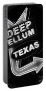 Deep Ellum Black And White Portable Battery Charger