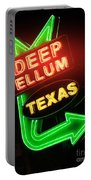 Deep Ellum Red Glow Portable Battery Charger